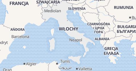 Włochy - szczegółowa mapa