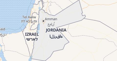 Jordania - szczegółowa mapa