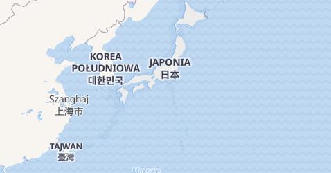 Japonia - szczegółowa mapa