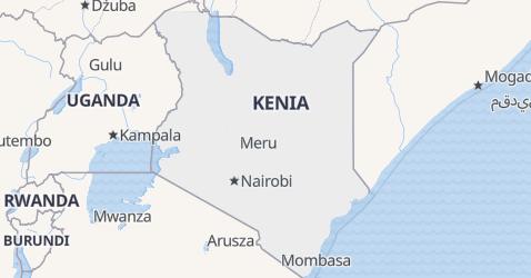 Kenia - szczegółowa mapa