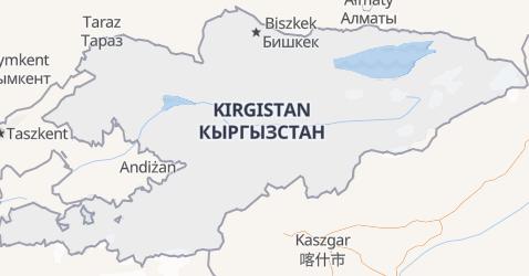 Kyrgyzstan - szczegółowa mapa