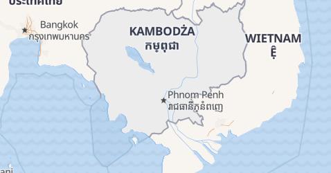 Kambodża - szczegółowa mapa