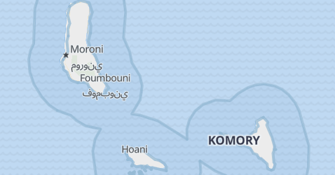 Komory - szczegółowa mapa