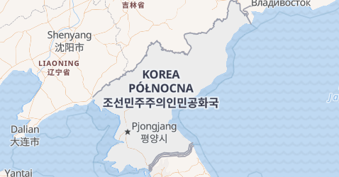 Korea Północna (Koreańska Republika Ludowo-Demokratyczna) - szczegółowa mapa