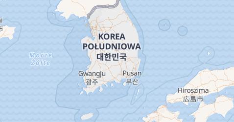 Korea Południowa - szczegółowa mapa