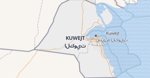 Kuwejt - szczegółowa mapa