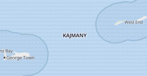 Kajmany - szczegółowa mapa