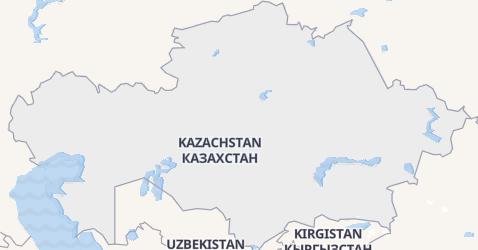 Kazachstan - szczegółowa mapa