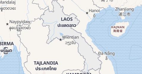 Laos - szczegółowa mapa