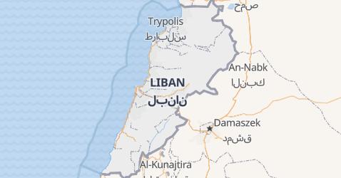 Liban - szczegółowa mapa