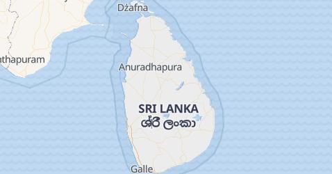 Sri Lanka - szczegółowa mapa