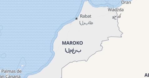 Maroko - szczegółowa mapa