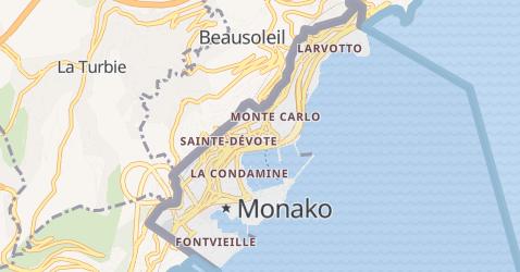 Monako - szczegółowa mapa