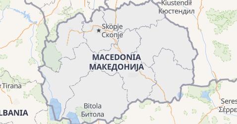 Macedonia - szczegółowa mapa