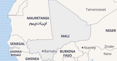 Mali - szczegółowa mapa