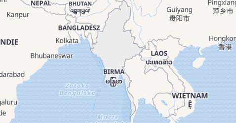 Myanmar - szczegółowa mapa