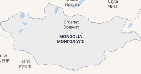 Mongolia - szczegółowa mapa
