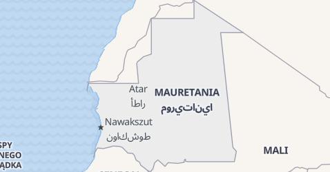 Mauretania - szczegółowa mapa
