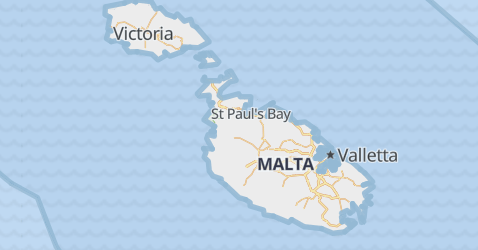 Malta - szczegółowa mapa
