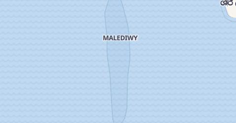 Maledivy - szczegółowa mapa