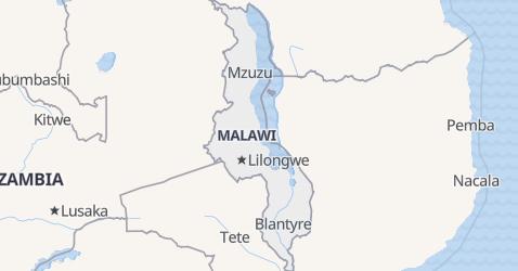 Malawi - szczegółowa mapa