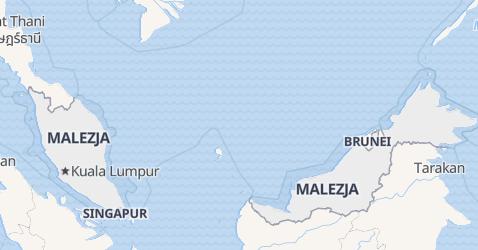 Malezja - szczegółowa mapa