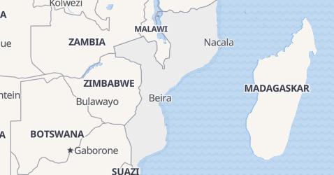 Mozambik - szczegółowa mapa