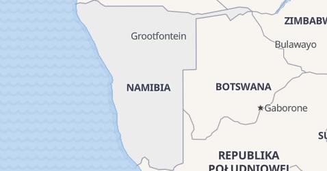 Namibia - szczegółowa mapa