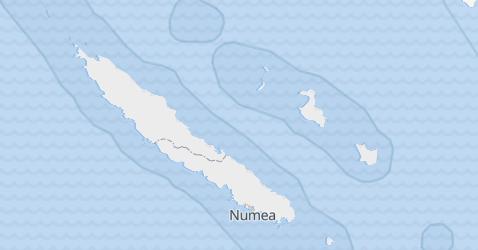 Nowa Kaledonia - szczegółowa mapa