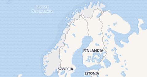Norwegia - szczegółowa mapa