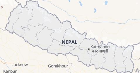 Nepal - szczegółowa mapa