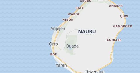 Nauru - szczegółowa mapa