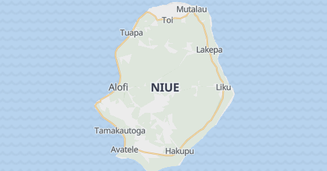 Niue - szczegółowa mapa