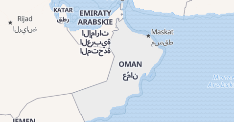 Oman - szczegółowa mapa