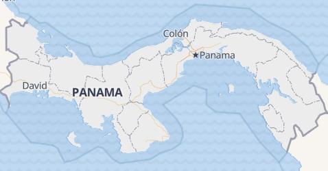 Panama - szczegółowa mapa