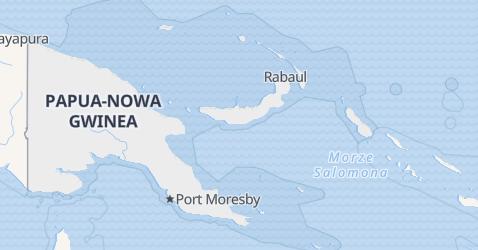 Papua Nowa Gwinea - szczegółowa mapa