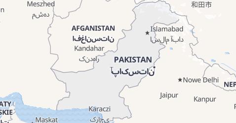 Pakistan - szczegółowa mapa