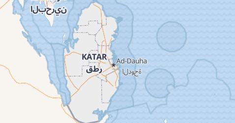 Katar - szczegółowa mapa
