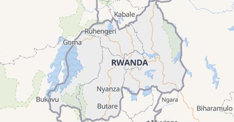 Rwanda - szczegółowa mapa