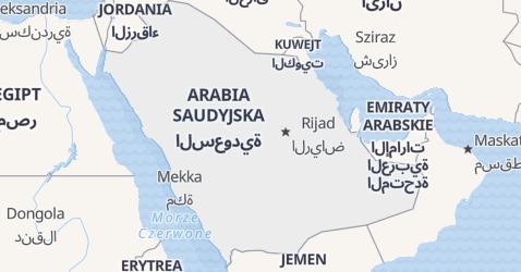 Arabia Saudyjska - szczegółowa mapa