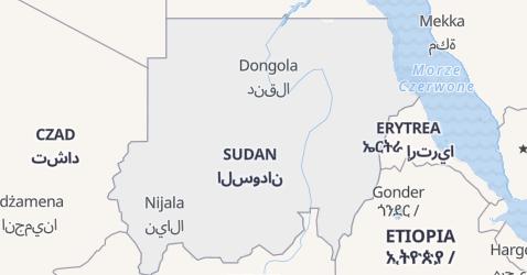 Sudan - szczegółowa mapa