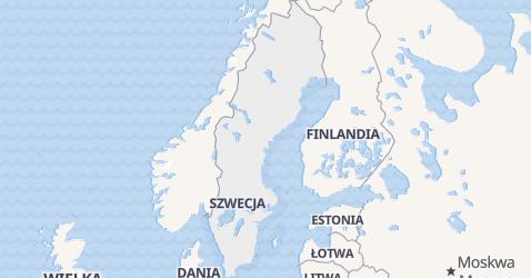 Szwecja - szczegółowa mapa