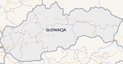 Słowacja - szczegółowa mapa
