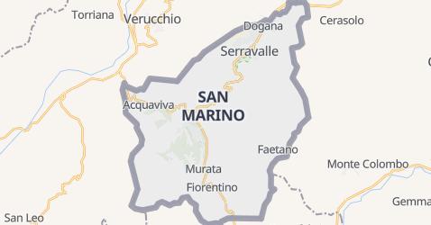 San Marino - szczegółowa mapa