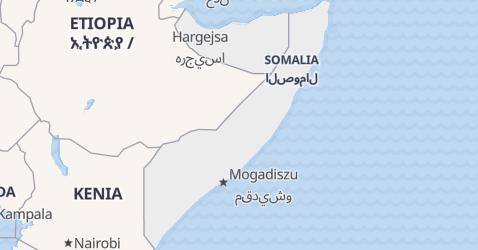 Somalia - szczegółowa mapa