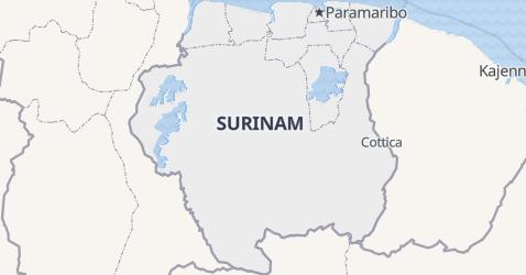 Surinam - szczegółowa mapa