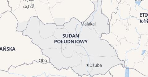 Sudan Południowy - szczegółowa mapa