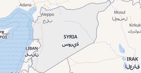 Syria - szczegółowa mapa