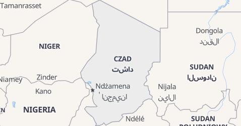 Czad - szczegółowa mapa