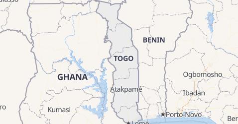 Togo - szczegółowa mapa